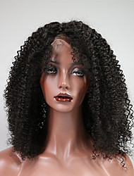 cheap -Remy Human Hair Lace Front Wig Wig Brazilian Hair / Kinky Curly Curly 150% Density Women's Short Human Hair Lace Wig