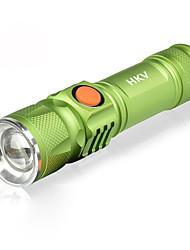 abordables -HKV Linternas LED / Lámpara LED 1000lm 3 Modo de Iluminación Portátil / SOS Camping / Senderismo / Cuevas / De Uso Diario / Ciclismo