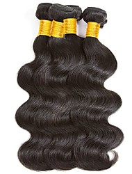cheap -Malaysian Hair / Body Wave Wavy Human Hair Extensions Human Hair Weaves Soft / Classic / Hot Sale Natural Black Women's