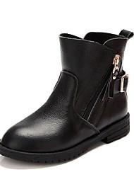 baratos -Para Meninas Sapatos Courino Inverno Botas de Neve Botas para Preto / Rosa claro