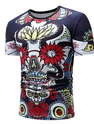 preiswerte -Herrn Einfarbig / Regenbogen - Retro / Grundlegend T-shirt Druck