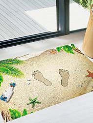 Недорогие -Напольные наклейки - Простые наклейки Пейзаж Гостиная Спальня Ванная комната Кухня Столовая Кабинет / Офис