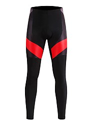 cheap -WOSAWE Unisex Cycling Pants Bike Tights / Bottoms Lightweight, 3D Pad, Cycling Classic Polyester, Spandex Black / Red Bike Wear