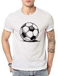 abordables -Tee-shirt Homme, Géométrique Imprimé Actif Basique Noir & Blanc