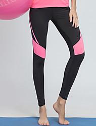 baratos -BARBOK Mulheres Calças de Yoga - Gray + verde, Preto / Rosa Esportes Meia-calça Roupas Esportivas Leve, Ioga, Secagem Rápida Com Stretch