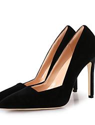 Недорогие -Жен. Обувь Бархат Весна лето Туфли лодочки Обувь на каблуках На шпильке Заостренный носок Серый / Винный / Темно-красный