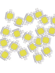 cheap -ZDM® 20pcs Integrated LED / High Performance LED / High Power LED Bulb Accessory LED Chip Aluminum / Pure Gold Wire LED for DIY LED Flood Light Spotlight 10 W
