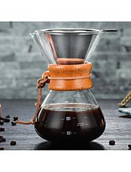 Недорогие -Стекло Heatproof / Креатив Taper Shape 1шт Фильтры / Фильтр для кофе / Чайник для кофе