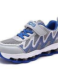 abordables -Garçon Chaussures Grille respirante Printemps été Confort Chaussures d'Athlétisme Lacet / Scotch Magique pour Gris / Bleu