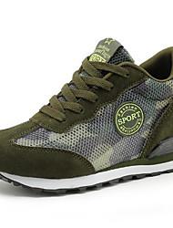 Недорогие -Жен. Обувь Кожа Лето Удобная обувь Кеды На плоской подошве Круглый носок для Военно-зеленный / Синий