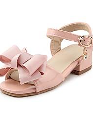 abordables -Fille Chaussures Similicuir Eté Confort Sandales Strass / Noeud / La boucle du crochet pour Enfants Noir / Rose
