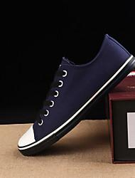 Недорогие -Муж. Полотно Весна & осень Удобная обувь Кеды Черный / Синий / Винный