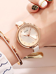 cheap -Women's Dress Watch / Wrist Watch Chinese New Design / Casual Watch / Imitation Diamond Leather Band Flower / Fashion White / Rose / Sony SR920SW / Two Years