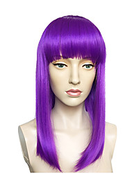 cheap -Others / Bangs Straight Bob Haircut / Short Bob Synthetic Hair Cute / Cosplay / Adjustable Purple Wig Women's Long Capless / Natural Hairline