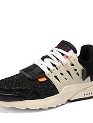 Недорогие -Муж. обувь Трикотаж Осень Удобная обувь Кеды Белый / Черный / Черно-белый