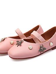 abordables -Fille Chaussures Polyuréthane Printemps Confort / Chaussures de Demoiselle d'Honneur Fille Ballerines pour Blanc / Noir / Rose