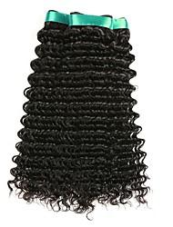 baratos -Cabelo Indiano / Onda Profunda Encaracolado Cabelo Humano Ondulado / Extensor / Cabelo Bundle 3 pacotes 8-28 polegada Tramas de cabelo humano Fabrico à Máquina Melhor qualidade / Para Mulheres Negras