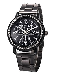 cheap -Men's Sport Watch Chinese Chronograph / Creative / New Design Stainless Steel Band Luxury / Sparkle Black / Silver / Luminous / Large Dial / SSUO LR626 / Tianqiu 377