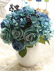 baratos -Flores artificiais 8.0 Ramo Rústico / buquês de Noiva Rosas / Flores eternas Flor de Mesa
