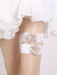 cheap -Lace Classic Jewelry / Lace Wedding Garter With Rhinestone / Floral Garters Wedding / Party & Evening