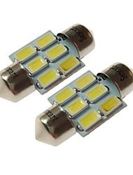 baratos -SENCART T10 Carro Lâmpadas 3W SMD 5730 180lm 6 Lâmpadas LED Iluminação interior For Universal Todos os Anos