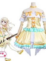 cheap -Inspired by BanG Dream Cosplay Anime Cosplay Costumes Cosplay Suits Other Short Sleeve Top / Skirt / Socks For Unisex Halloween Costumes