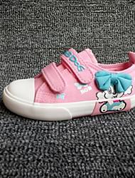 preiswerte -Jungen / Mädchen Schuhe Leinwand Frühling Komfort Sneakers für Fuchsia / Rosa