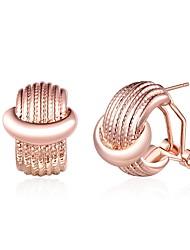 economico -Orecchini a bottone - Di tendenza Oro rosa Per Matrimonio / Quotidiano