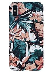 Недорогие -Кейс для Назначение Apple iPhone X / iPhone 8 Pluss / iPhone 8 Сияние в темноте / Рельефный / С узором Кейс на заднюю панель Цветы Твердый ПК