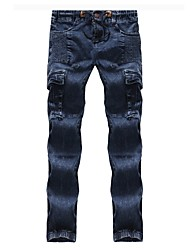 cheap -Men's Basic Jeans Pants - Solid Colored Ruched
