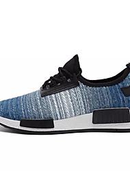 cheap -Men's Light Soles Fabric Fall Sneakers Dark Blue / Light Grey