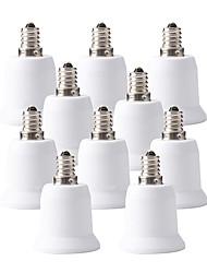 billige -ZDM® 10pcs E12 til E27 E12 / E26 / E27 Bulb tilbehør / Adapter Lysstik Plast & Metal