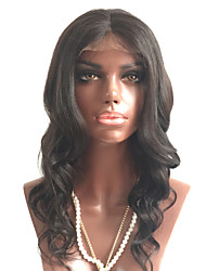 cheap -Unprocessed Human Hair Full Lace Wig Brazilian Hair Wavy Wig Layered Haircut 180% With Baby Hair / For Black Women Black Women's Short / Long / Mid Length Human Hair Lace Wig