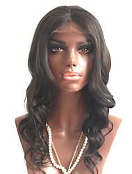 Недорогие -Необработанные Полностью ленточные Парик Бразильские волосы Волнистый Парик Стрижка каскад 180% С детскими волосами / Для темнокожих женщин Черный Жен. Короткие / Длинные / Средняя длина