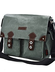cheap -Men's Bags Canvas Shoulder Bag Beading / Buttons Gray / Dark Brown