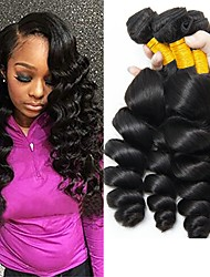 cheap -4 Bundles Indian Hair Wavy Human Hair Natural Color Hair Weaves / Human Hair Extensions Human Hair Weaves Best Quality / Hot Sale / For Black Women Natural Color Human Hair Extensions Women's