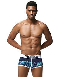 cheap -Men's Boxers Underwear Floral Low Rise