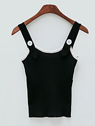 abordables -Mujer Tank Tops, Con Tirantes Bloques