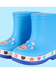 cheap -Girls' Shoes PVC Leather Fall Rain Boots Boots for Yellow / Fuchsia / Light Blue