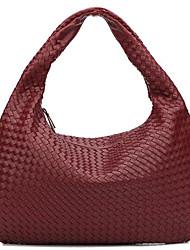 preiswerte -Damen Taschen Baumwolle / Polyester Tragetasche Reißverschluss Dunkelgrau / Himmelblau / Wein