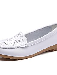 abordables -Femme Chaussures Cuir Automne hiver Confort / Moccasin Mocassins et Chaussons+D6148 Hauteur de semelle compensée Noir / Bleu / Rose