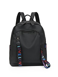 cheap -Women's Bags Nylon Backpack Zipper for Casual Black