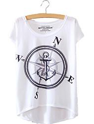 preiswerte -Damen Geometrisch - Punk & Gothic T-shirt