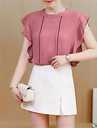 お買い得  -女性用 シャツ ソリッド スカート