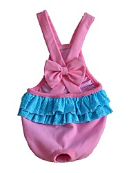 cheap -Dogs / Cats / Pets Jumpsuit Dog Clothes Solid Colored / Color Block / Simple Green / Blue / Pink Cotton / Polyester Costume For Pets