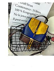 baratos -Mulheres Bolsas PU Bolsa de Ombro Botões / Ziper para Ao ar livre Azul / Verde / Rosa