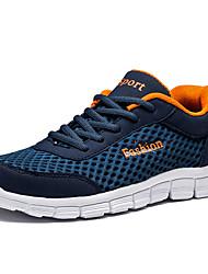 cheap -Men's Tulle Summer Comfort Athletic Shoes Running Shoes Dark Blue / Light Grey / Light Blue