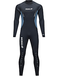 cheap -HISEA® Men's Full Wetsuit 5mm CR Neoprene Diving Suit Stretchy Long Sleeve Back Zip, Knee Pads Classic / Fashion