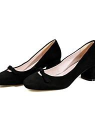Недорогие -Жен. Обувь Замша Весна лето Туфли Мери-Джейн Обувь на каблуках На толстом каблуке Квадратный носок для на открытом воздухе Зеленый /