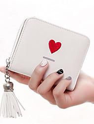 Недорогие -Жен. Мешки PU Бумажники Молнии / С кисточками Розовый / Серый / Лиловый
